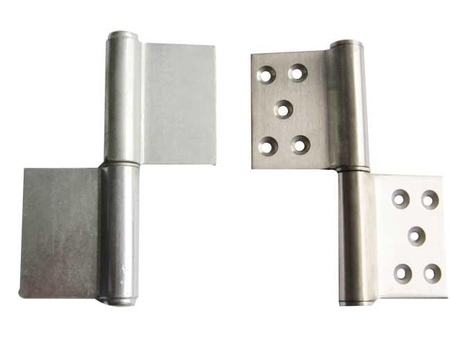 (4)铰链的连接方式应与框,扇的材质相匹配,如钢框木门所用的合页