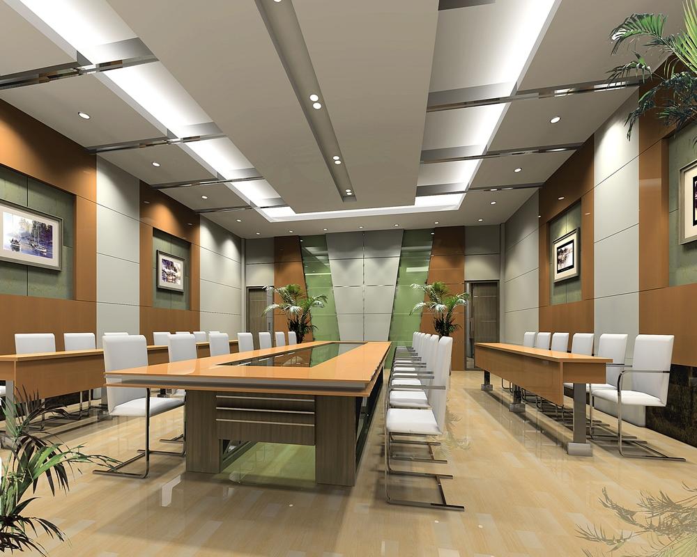 会议室装修效果图_会议室设计效果图