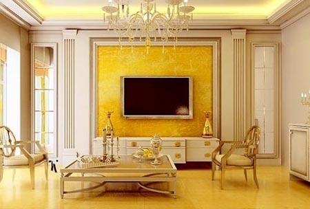 欧式电视背景墙效果图图片