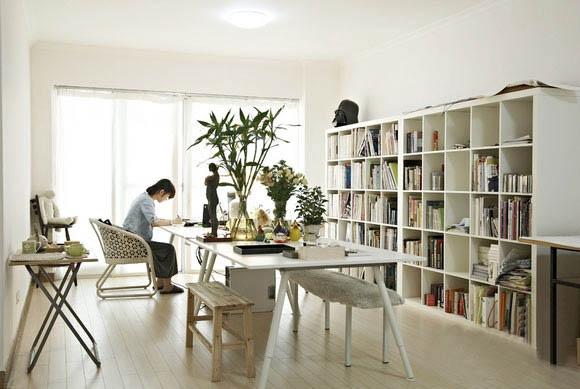 家装书柜效果图
