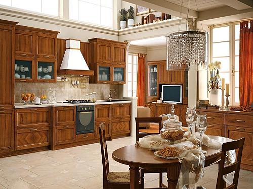 全实木橱柜的设计体现着高品质的家居生活