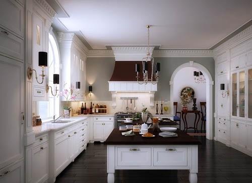 欧式厨房装修效果图_欧式风格厨房装修