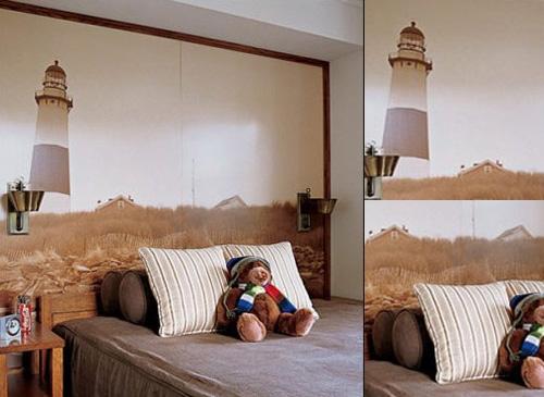 卧室手绘背景墙