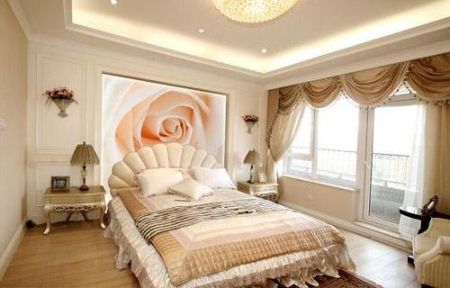 手绘卧室背景墙_手绘卧室效果图