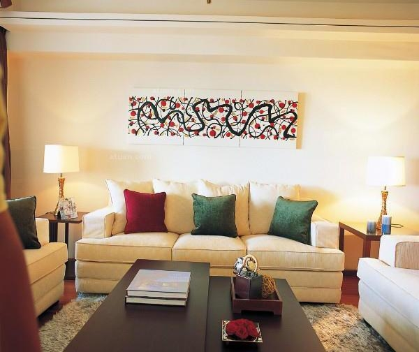 个性沙发背景墙效果图