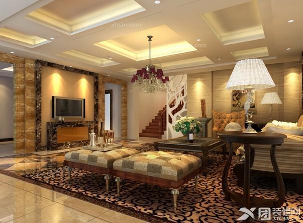 别墅客厅装修效果图