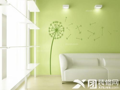 客厅手绘墙图片
