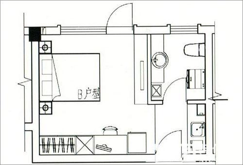 2012单身公寓户型图_单身公寓装修效果图