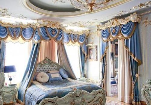 洛可可风格卧室装修效果图