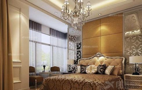 2012欧式卧室装修效果图-黄色的高贵