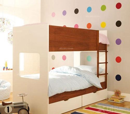 儿童房墙贴效果图-x团装修网