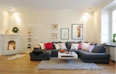 北欧简约风格客厅效果图-x团装修网