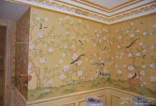 那么 手绘墙纸材质分类一,布面手绘:布面手绘材质有,亚麻布,棉麻混纺