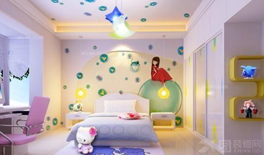 儿童房手绘墙效果图         儿童房手绘墙的设计要根据整个房间布局