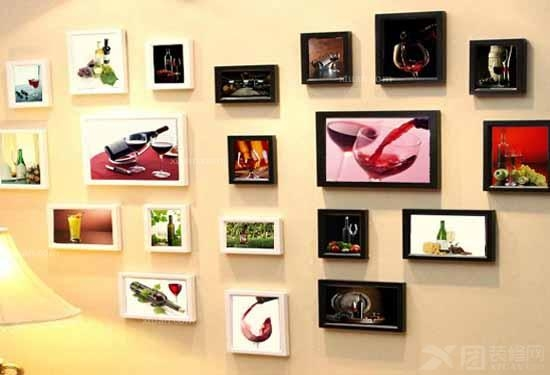 照片墙设计效果图四 成都最好装修公司推荐 照片墙设计效高清图片