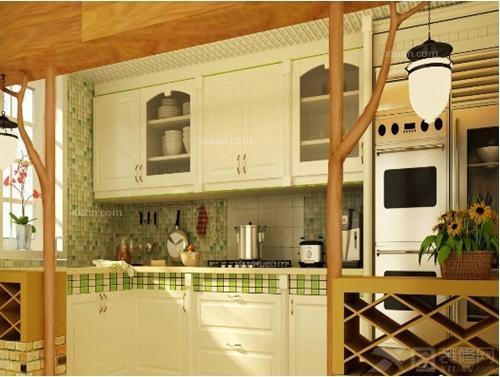 餐厅装修 简欧风格厨房装修效果图     一看这种风格设计,就有简欧式图片