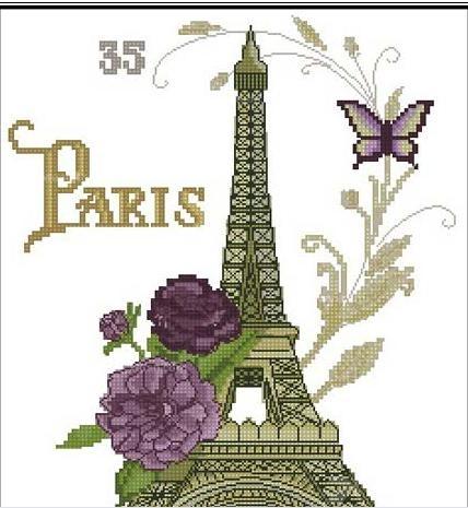 浪漫巴黎装饰画 6款铁塔风景装饰客厅装饰画三