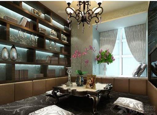 装修详解 > 简欧风格书房装修案例  书房是人们补充知识的地方,在现代