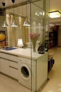 开放式厨房玻璃隔断图片