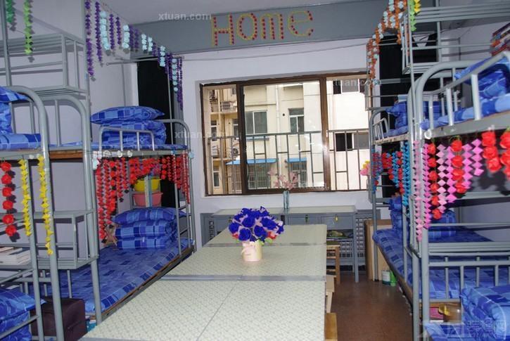 x团装修网 建材 书房 书房购买指南 宿舍如何装饰  宿舍装饰二,桌面收