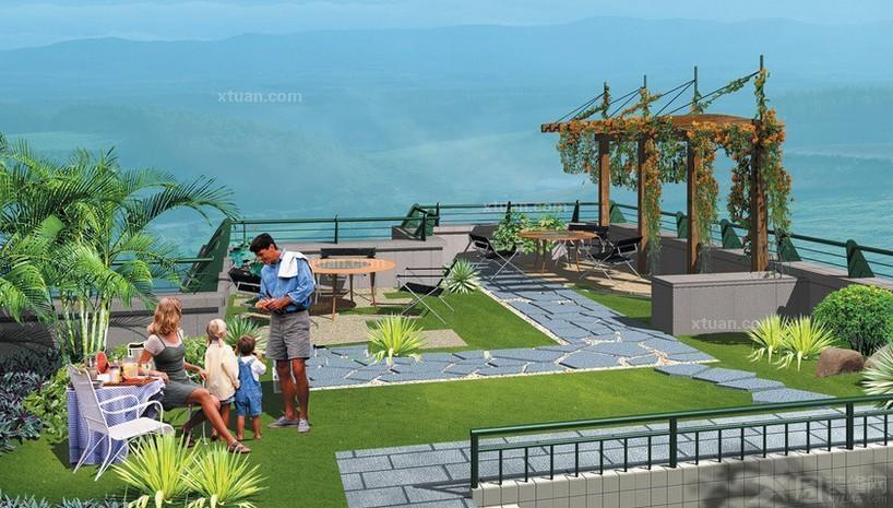 空中花园图片_空中花园装修效果图; 空中花园设计效果图图片分享_效果图片