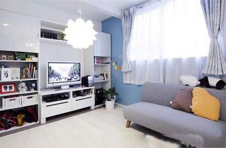 小清新日式风格客厅装修效果图