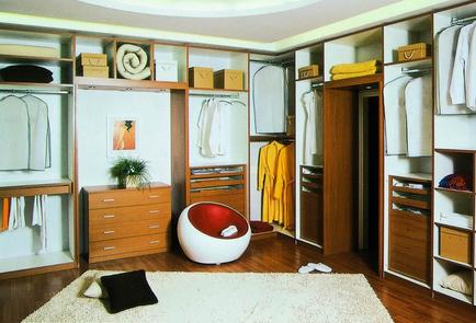 时尚潮流开放式衣柜效果图
