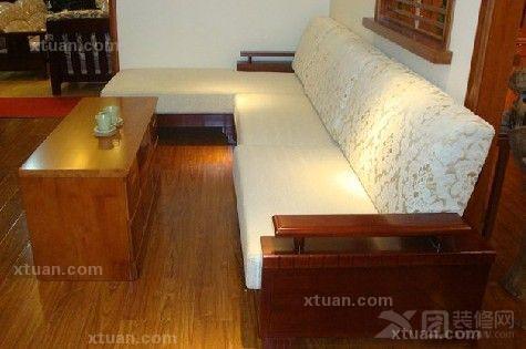 实木转角沙发图片