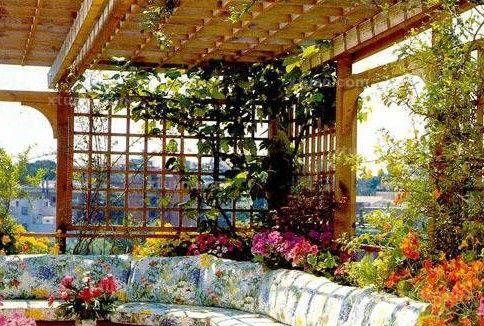 四款屋顶花园效果图