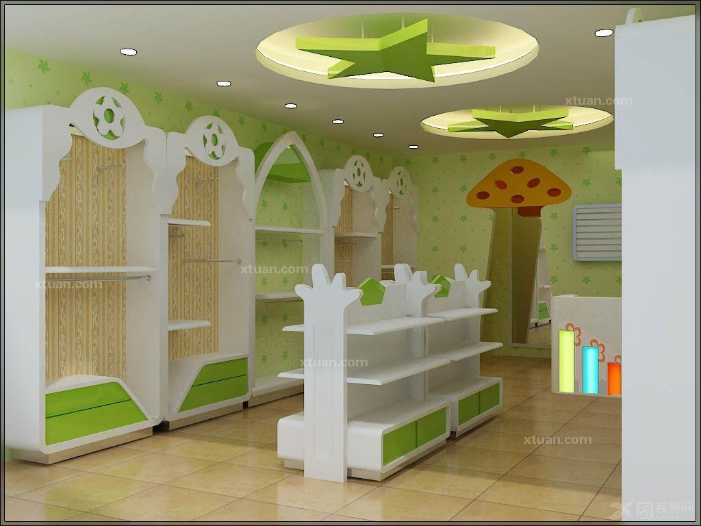 孕婴店装修效果图; 母婴店装修-孕婴店装修-母婴用品店装修; 店中岛柜