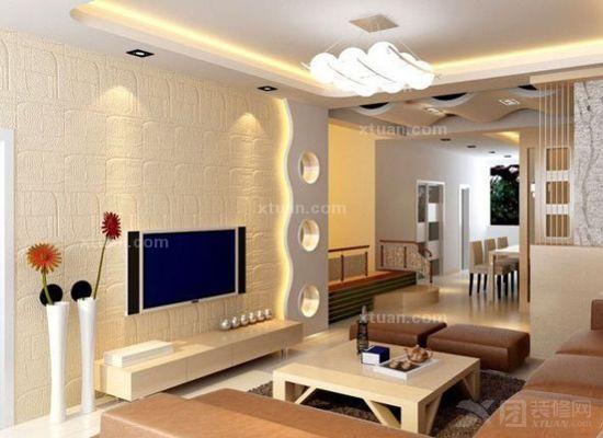 电视背景墙打造家居风景线-x团装修网