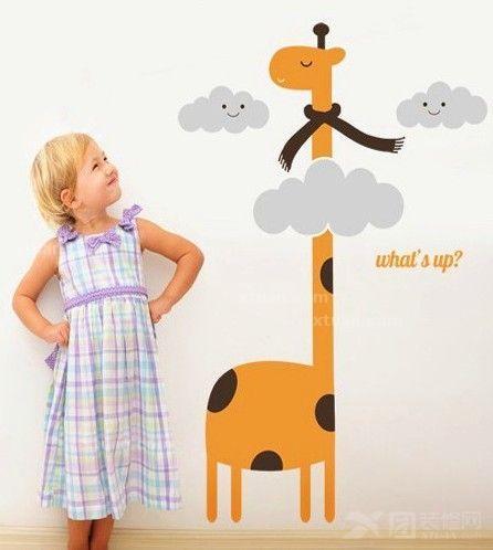 这种儿童房手绘墙色彩适合较大的儿童,色彩不浓艳,不夸张,也是儿童房