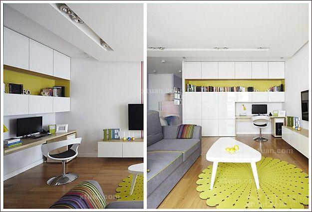 现代风格居室的巧妙设计-x团装修网