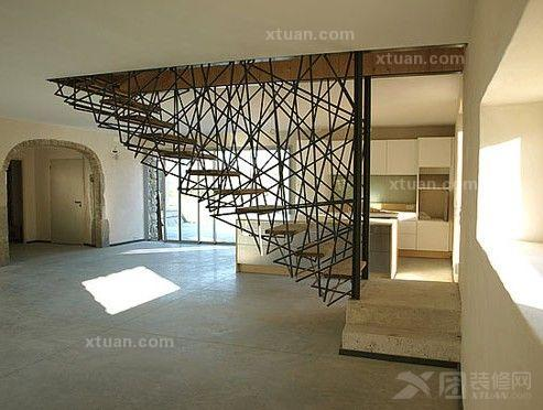 别墅楼梯设计图-别墅楼梯装修效果图