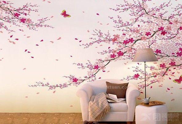 客厅装饰效果图-手绘沙发墙的个性精彩