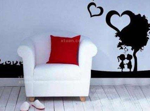 西方黑白家具手绘单体
