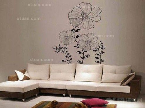 客厅背景墙设计-手绘墙设计风采
