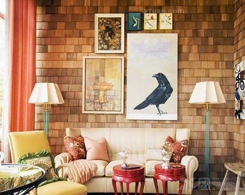 客厅/2:沙发背后宜有沙发背景墙可靠