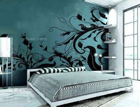 卧室背景墙效果图-卧室墙面彩绘艺术