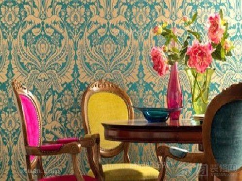 家装壁纸效果图-装扮单调空间  乡村气息的墙纸斑斑点点,碎花可爱极了