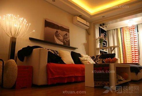 54平两室一厅设计-打造清新风格婚房-x团装修网