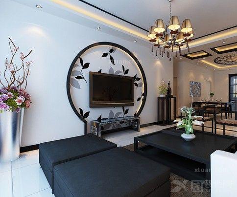 客厅电视背景墙装修效果图-客厅设计最美风景