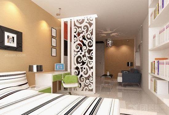 单身公寓装修效果图(三 【中团网】装修效果图; 单间公寓装修效果图