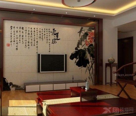 美瓷砖客厅电视墙