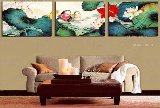 沙发背景墙装饰画-点亮你的温馨家居