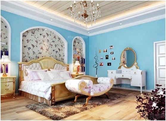 经典现代风格卧室背景墙装修效果图