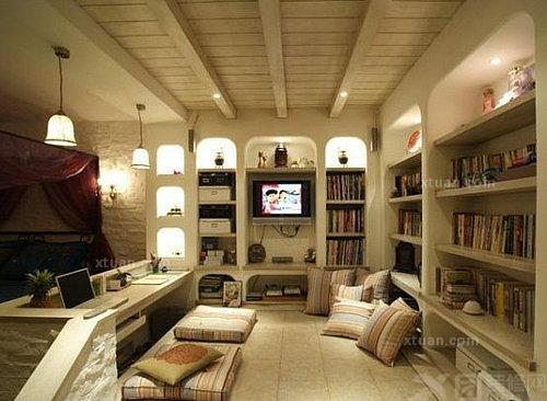 4. 木制顶角线安装施工 台头就让你惊艳的书房吊顶 高清图片