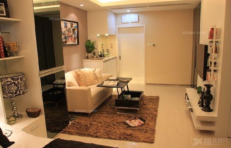 小户型精装公寓装修方案一:黑+白+灰=永恒经典