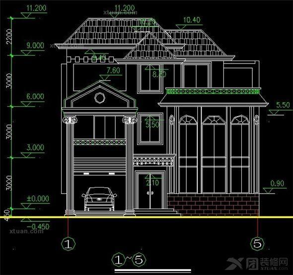 农村三层别墅装修设计效果图图片