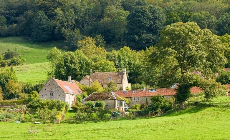 农村复古风景图片